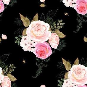 """8"""" Vintage Roses - Black"""