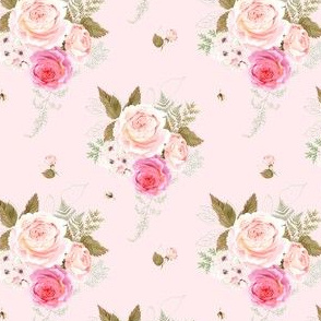 """4"""" Vintage Roses - Pink"""