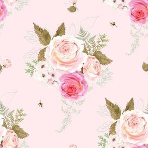 """8"""" Vintage Roses - Pink"""