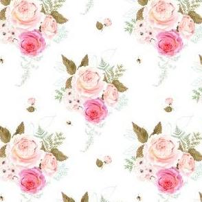 """4"""" Vintage Roses - White"""