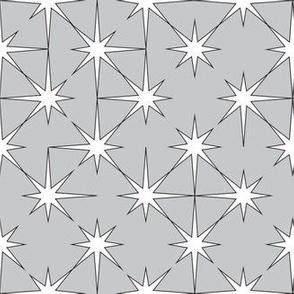 starburst white and black on grey