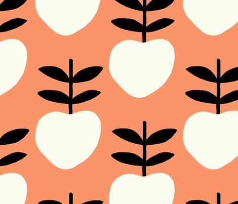 Peaches fabric by alishaloc on Spoonflower - custom fabric