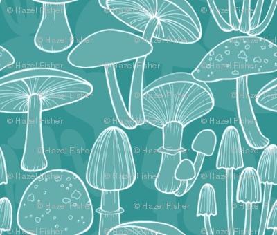 Mushrooms - Teal
