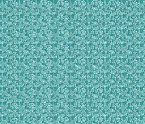Mushrooms_linedrawing_whiteonteal_2p5inch_150s_hazelfishercreations_shop_preview