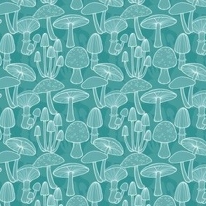 Mushrooms - Teal