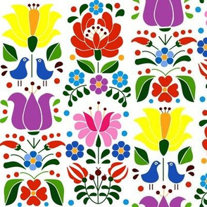 hungarian motif colored