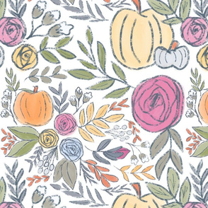 Harvest Pumpkins and Florals