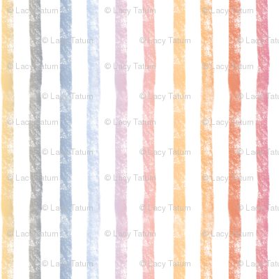 Pumpkin Spice Rainbow Stripes - vertical