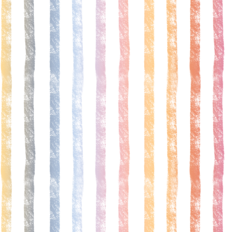 Pumpkin Spice Rainbow Stripes - vertical  fabric by smallhoursshop on Spoonflower - custom fabric