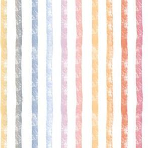 Pumpkin Spice Rainbow Stripes - vertical