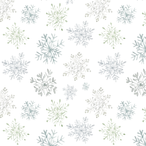 Lace Snowflakes // White fabric by hipkiddesigns on Spoonflower - custom fabric