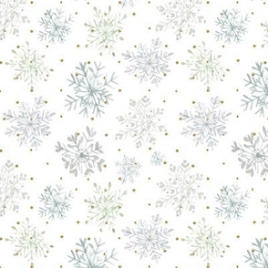 Lace Snowflakes // Gold Dots