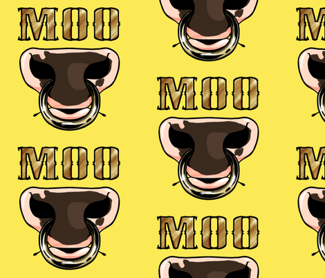 Moo fabric by pawgyle on Spoonflower - custom fabric