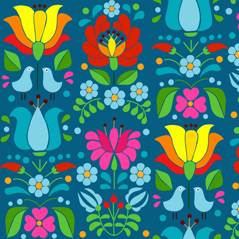 hungarian motif MULTICOLOR fabric by gomboc on Spoonflower - custom fabric