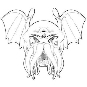Cthulhu leech, greyscale version