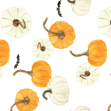 Spooky Pumpkin Patch 2 fabric by mintpeony on Spoonflower - custom fabric