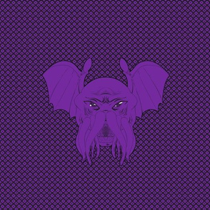 Cthulhu leech, eldritch purple version with background