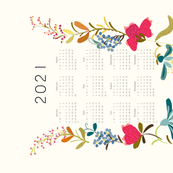 2021 Tea towel calendar - FolkArt