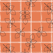 Leaves on Orange windowpane
