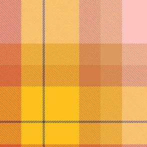 Fall Mustard Pink Plaid