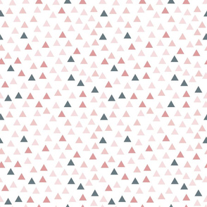 triangles pink and grey
