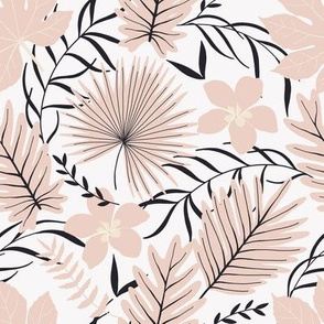 Pink Exotic Leaves / Tropic Collection