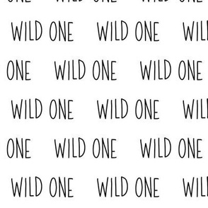 Wild One // Black and White