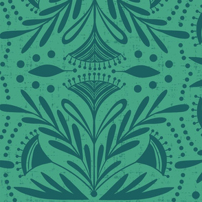 Lenox - Damask Green & Teal Jumbo Scale