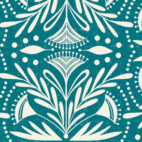 Lenox - Damask Teal Jumbo Scale