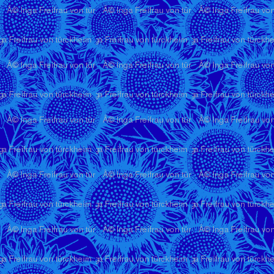 Sunflowers Dark Blue (small scale)