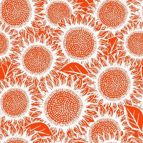 Sunflowers Dark Orange (large scale)