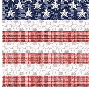 Feed Sack American Flag_54 inch width