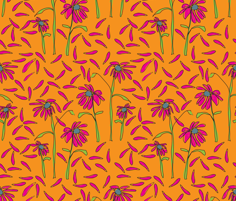 FreeFlowerWPed2 fabric by choffman on Spoonflower - custom fabric