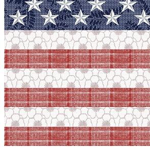 Feed Sack American Flag_56 inch width