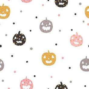Pumpkins and dots