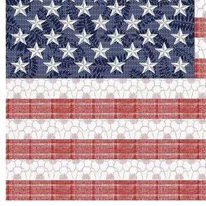 Feed Sack American Flag_42 inch width