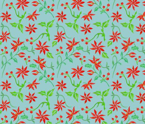 winter flowers fabric by poolofblue on Spoonflower - custom fabric