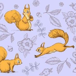 Squirrel! (purple)