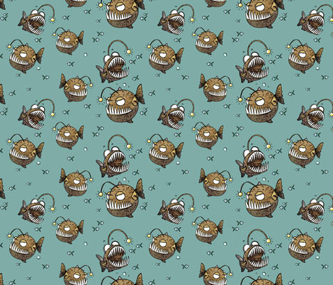 Cranky fish fabric by mulberry_tree on Spoonflower - custom fabric