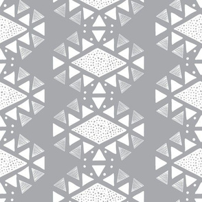 Monlay print Grey and white