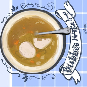 Matzah ball soup recipe tea towel