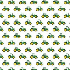 (micro scale) green tractors - farming fabric C18BS