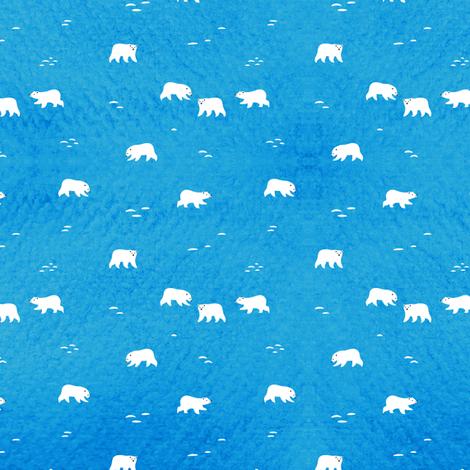 Polar Bears small fabric by noristudio on Spoonflower - custom fabric