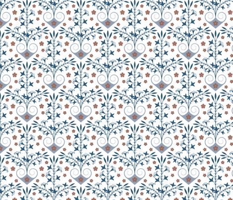 Minoan lily fabric by ekpdesign on Spoonflower - custom fabric