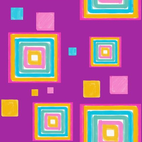 squares purple background