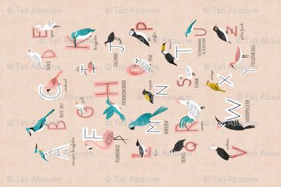 Bird Alphabet Tea towel