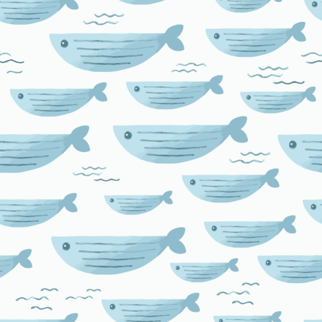 Swimming Fish fabric by looshdesign on Spoonflower - custom fabric