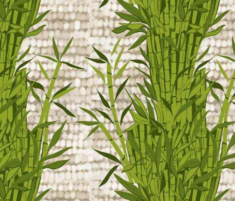 Bamboo on flax texture fabric by robynhammonddesign on Spoonflower - custom fabric