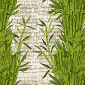 Bamboo on flax texture