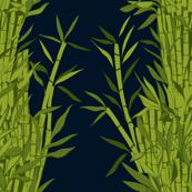 Bamboo on indigo blue